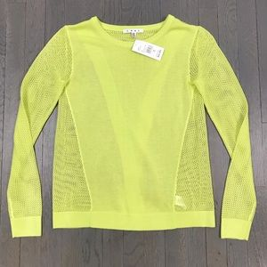 NWT cabi Outlet Neon Green Long Sleeve Sweater